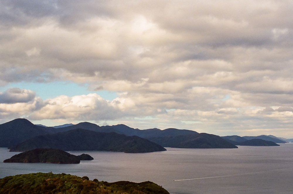 View of Marlborough Sound from French Pass, Picton New Zealand South Island