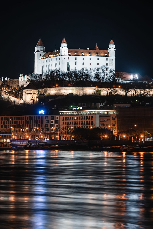 Reflections Bratislava Castle Long Exposure Bratislava Slovakia Urban City Eastern Europe