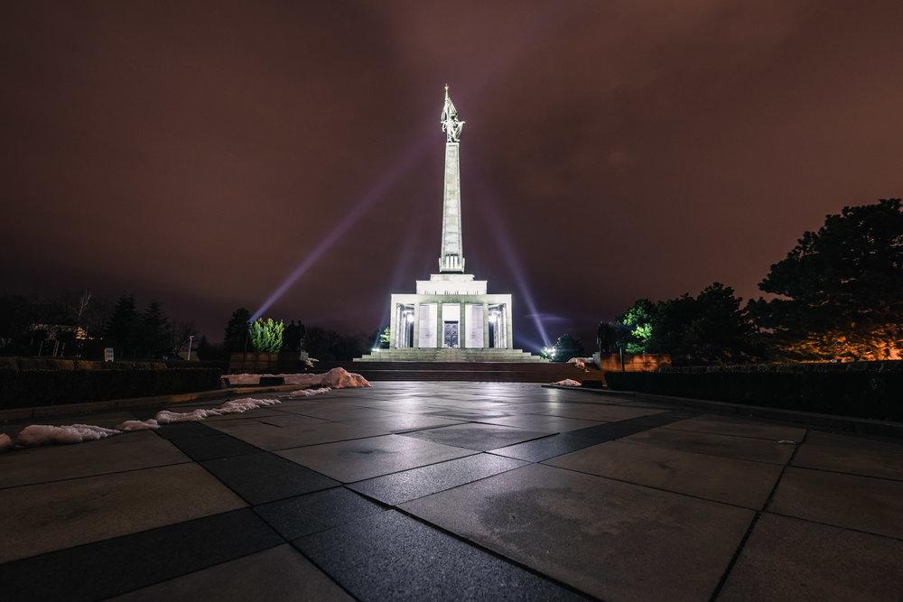 Night Slavin WW2 World War 2 Long Exposure Bratislava Slovakia Urban City Eastern Europe