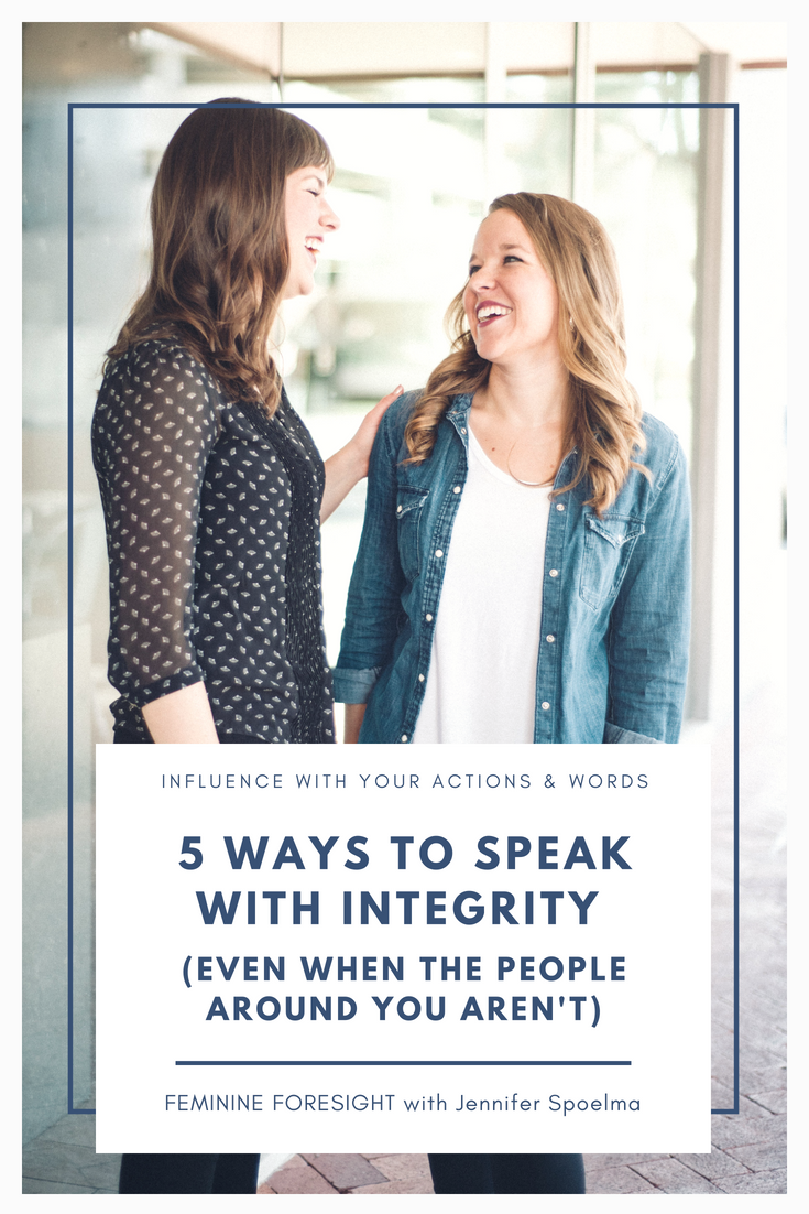 How to Use Your Words With Integrity | Jennifer Spoelma