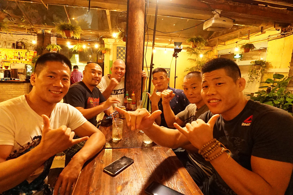 Left to Right: Ji Xian, Zhang Tiequan, Vaughn Anderson (Director of Competition,LEGEND FC) , Wu Haotian, Ning Guangyou and Leech' Jingliang.