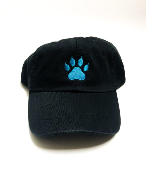 92a82ec47a5 EMBROIDERED PAW PRINT HAT — Babe Gamewear