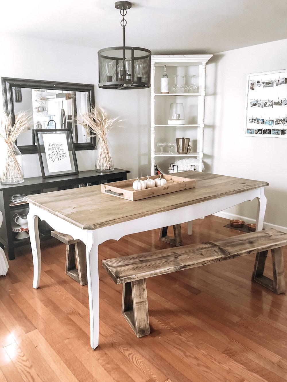 DIY Coastal Farmhouse Dining Bench