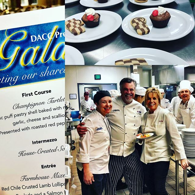 Back of the house fun! Loved workin' w Chef Drake and his students at DACC last night💜future chefs and restaurateurs, caters and special event planners... #education #chefs #culinary #students #life #career #foodie #instafood #college #instagood #catering #celebration