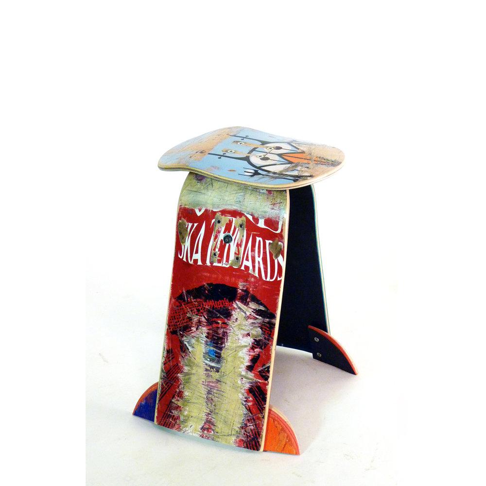 "Basic Skateboard Stool 18""H."