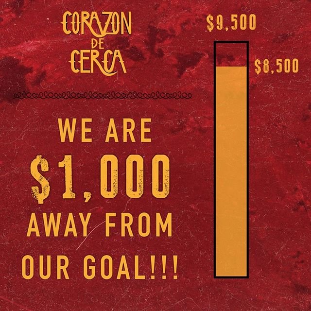We are only $1,000 away from being 100% funded!!! If you haven't already and want to support our film click the link to donate! ⠀ https://buff.ly/2AknojN⠀ A huge thank you to everyone who has donated your support means the world! ❤️