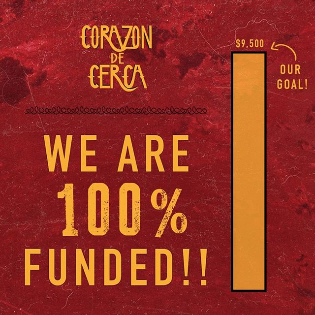 Hope you all are enjoying the holidays! ⠀ We are officially fully funded!! 🎉 ⠀ Thank you for all of your support! ⠀ Shout out to Lorraine Caputo for donating the last bit we needed!
