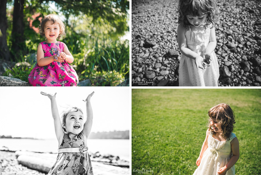 girl portraits by the beach, beach treasure in hand, throwing up flowers in the air, happy girl in the park