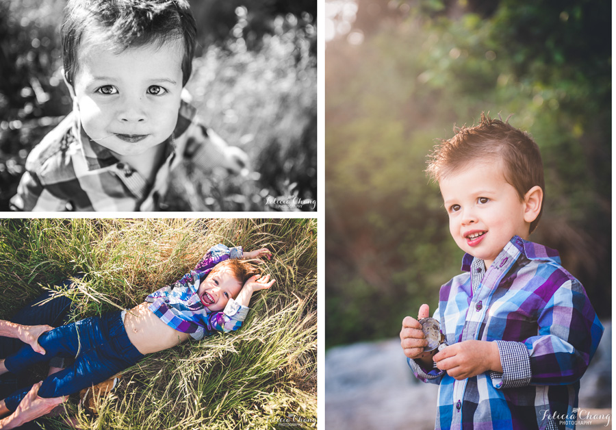 little boy portrait, golden backlight, boy playing in the grass