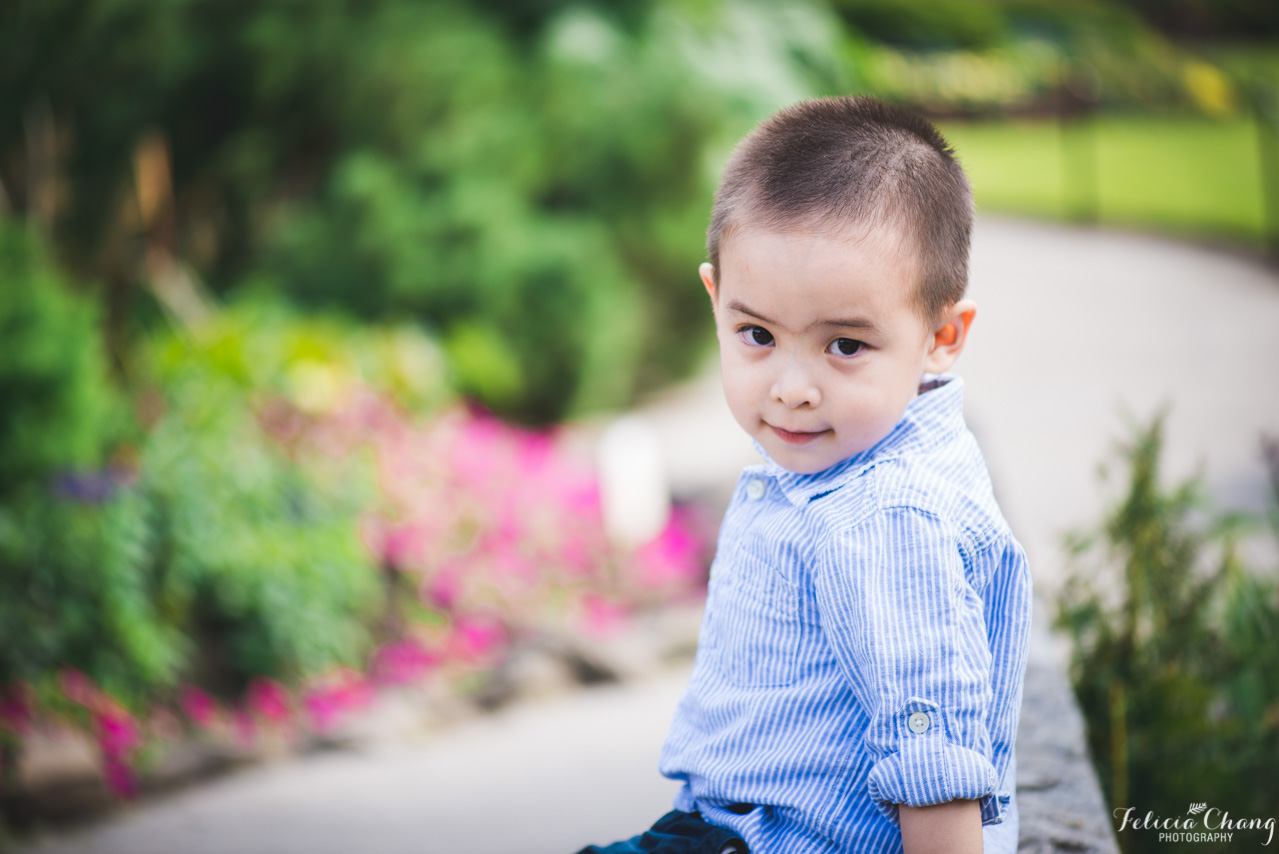little boy smiling at camera in the park | | Felicia Chang Photography