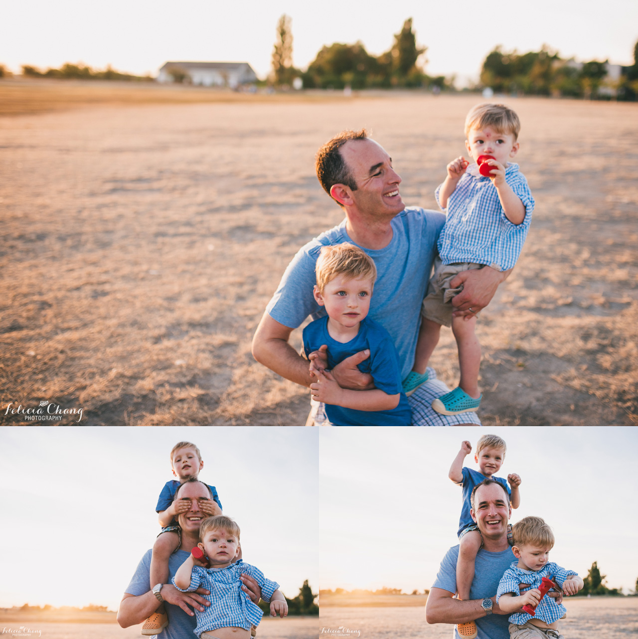 dad with his boys, vancouver family photographer, Felicia Chang Photography
