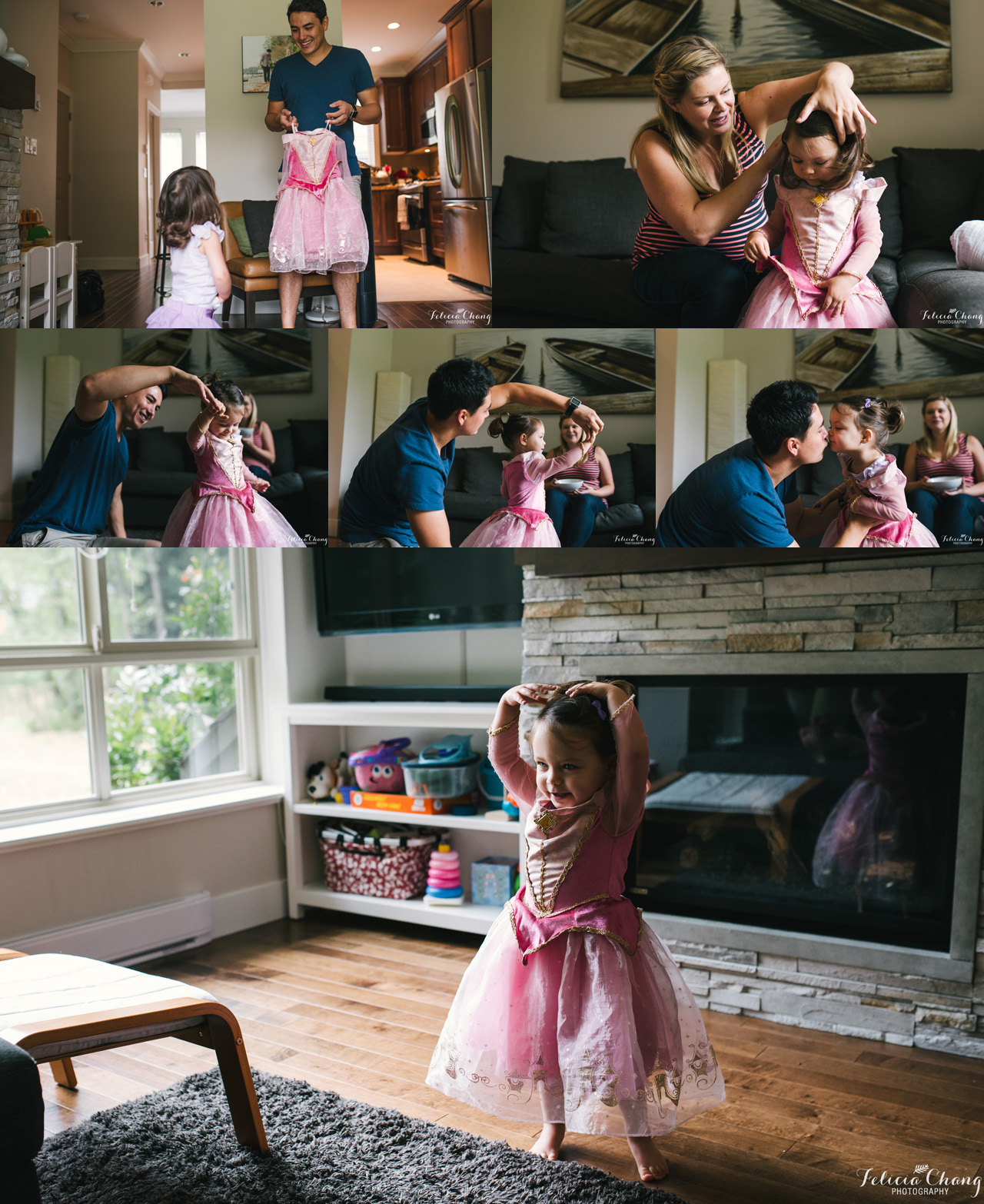 dance party with daughter, North Vancouver newborn photographer, Felicia Chang Photography