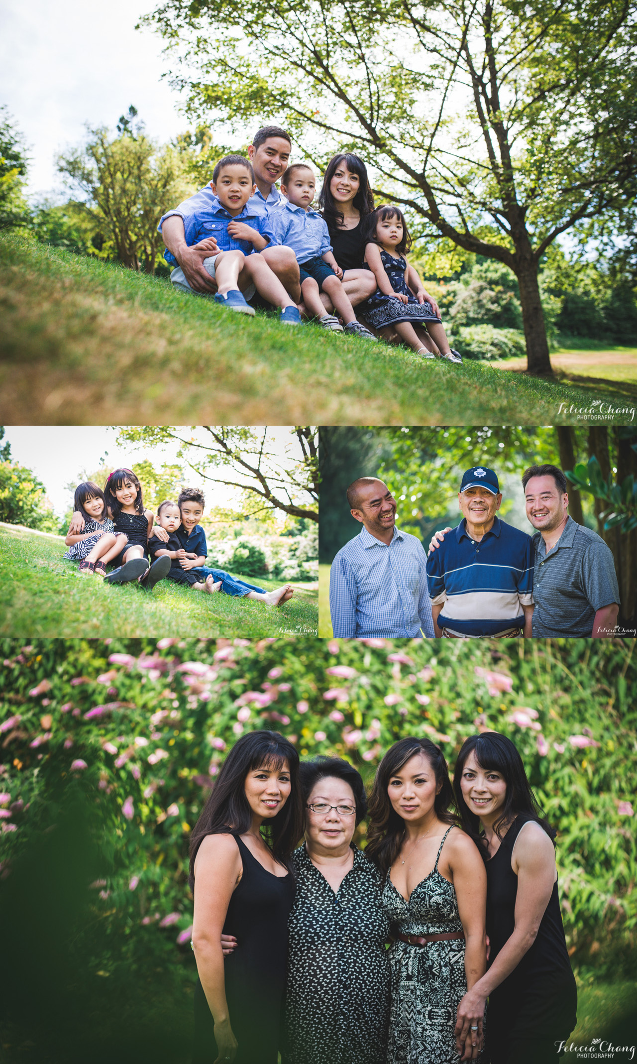 posed family portraits extended family | Felicia Chang Photography