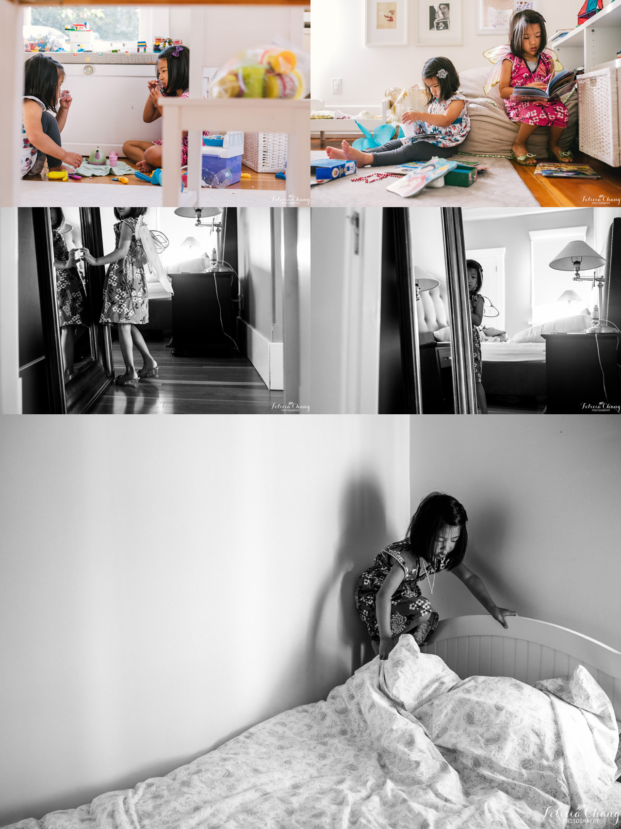 Morning playtime and chores |  Felicia Chang Photography