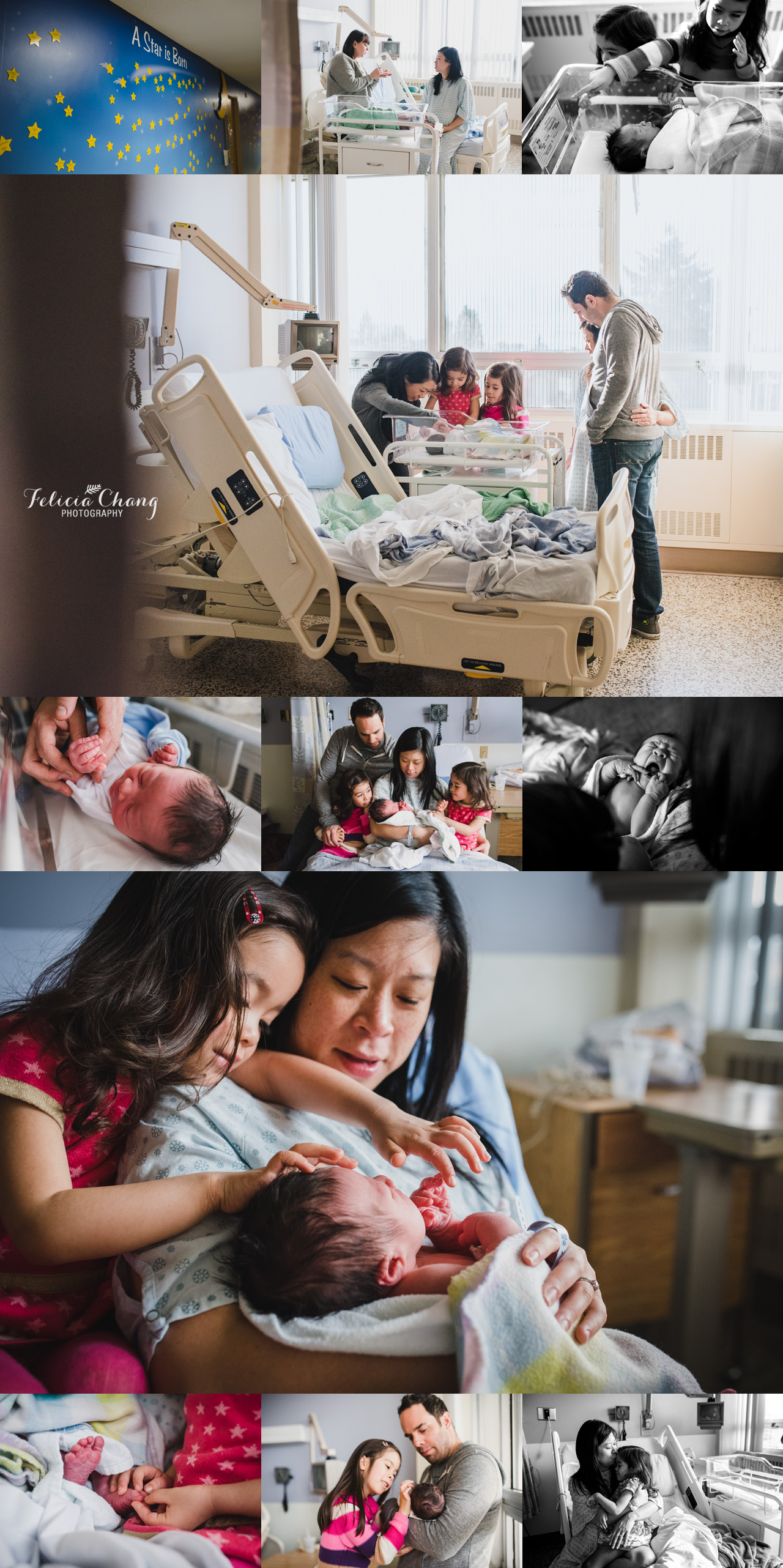 Vancouver newborn hospital photos | Felicia Chang Photography