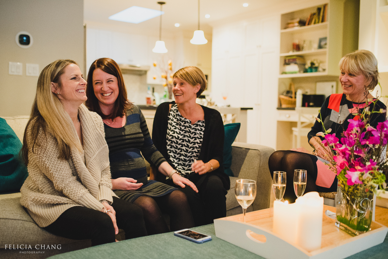 Family of women sharing a laugh together