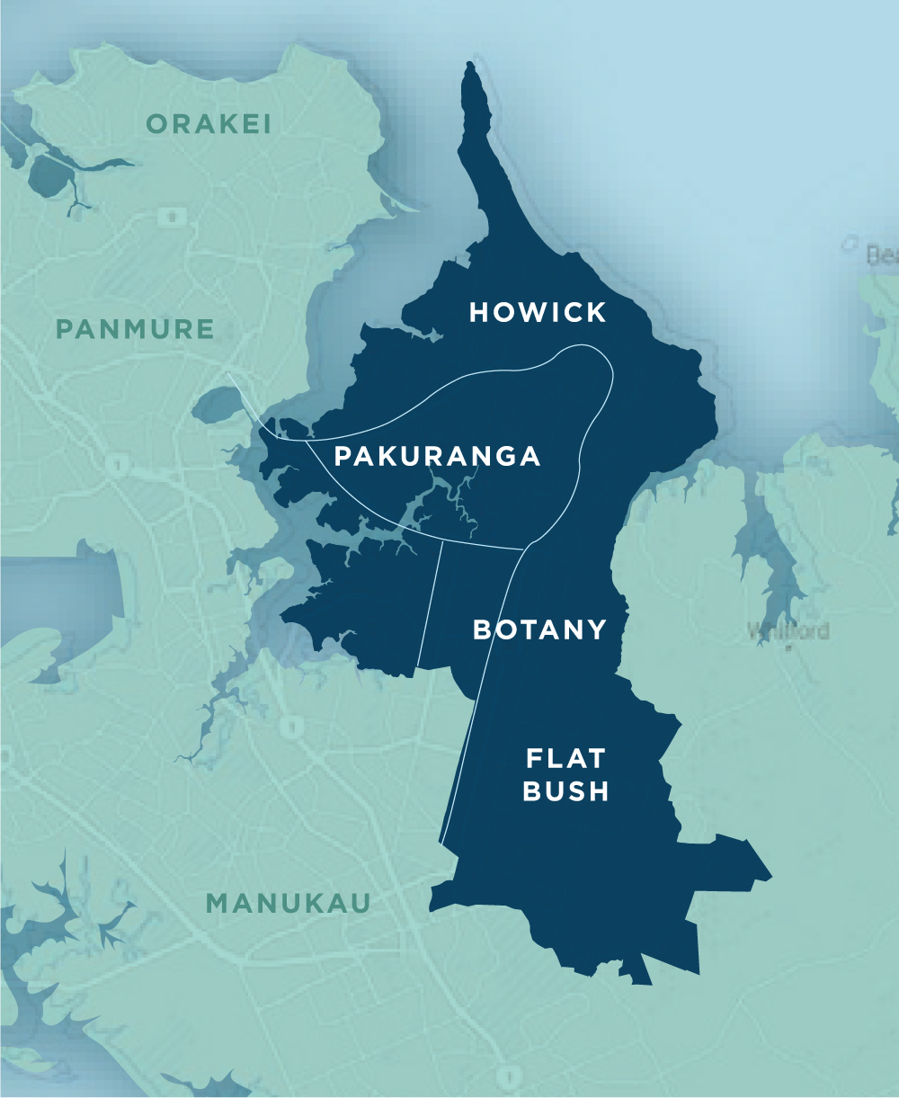 Howick Council Ward - To vote in the by-election you will need to live in the dark blue area of the map and complete a postal vote.Voting is open from 22 august - 13 September.Simply tick