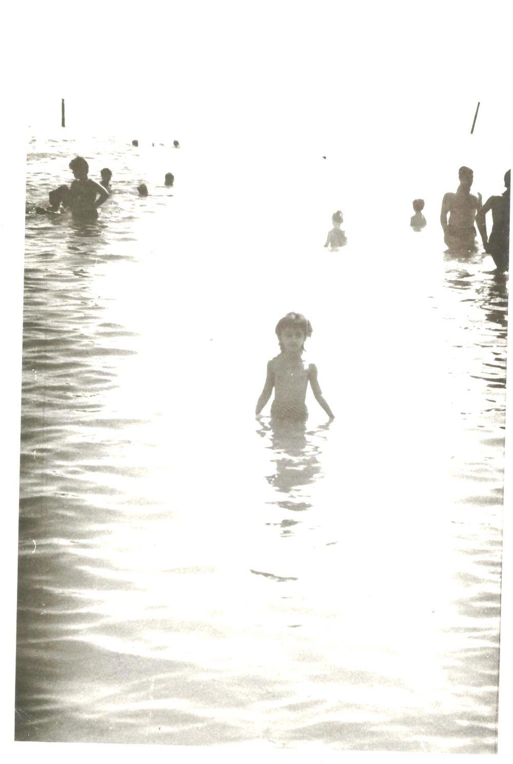 Swimming in the Caspian Sea