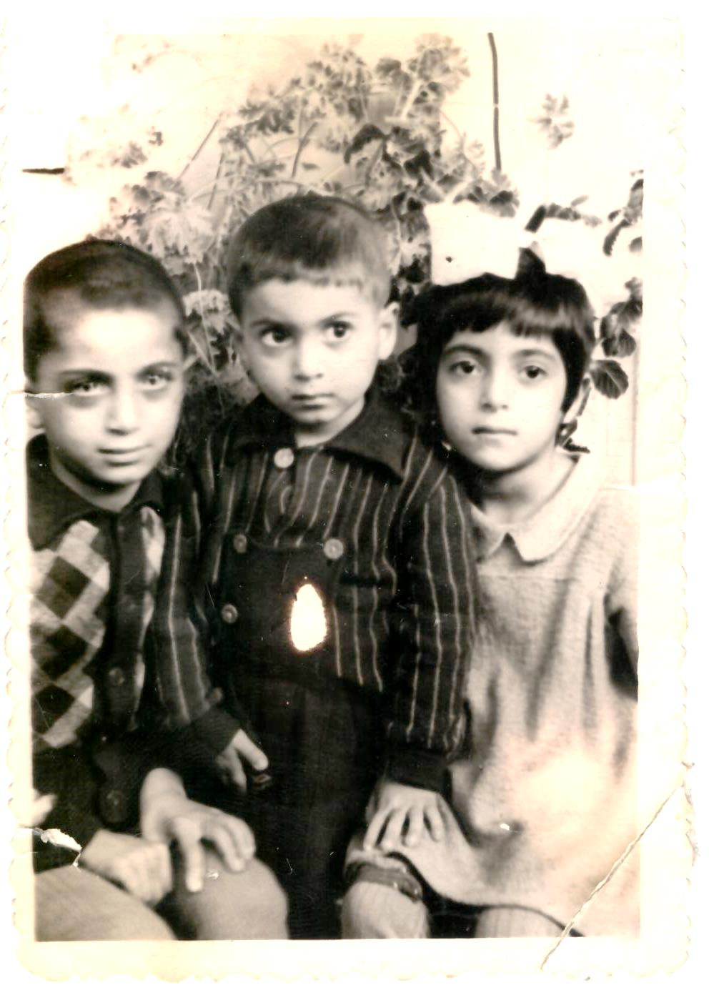 Namesake Aunt Sophia/Sonia with my uncles, Chanukah and Yasha, just before my dad was born