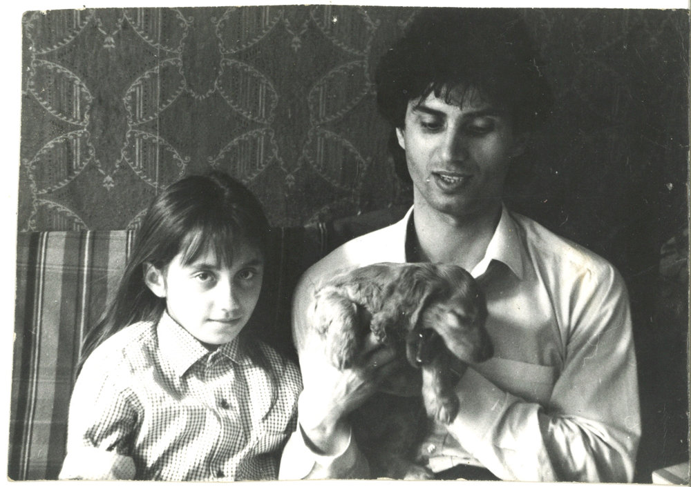 Our Leningrad flat, new puppy Suzie, the couch I slept on - Summer, 1989