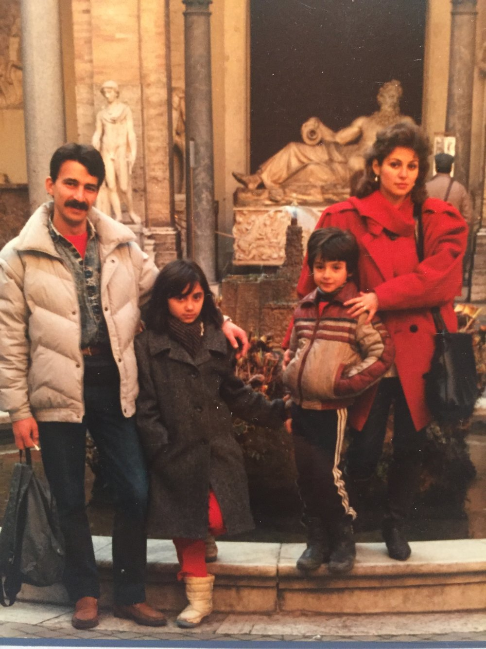 The Vatican with my friend and his mom and her friend - Winter, 1990 (*Ch XIX)