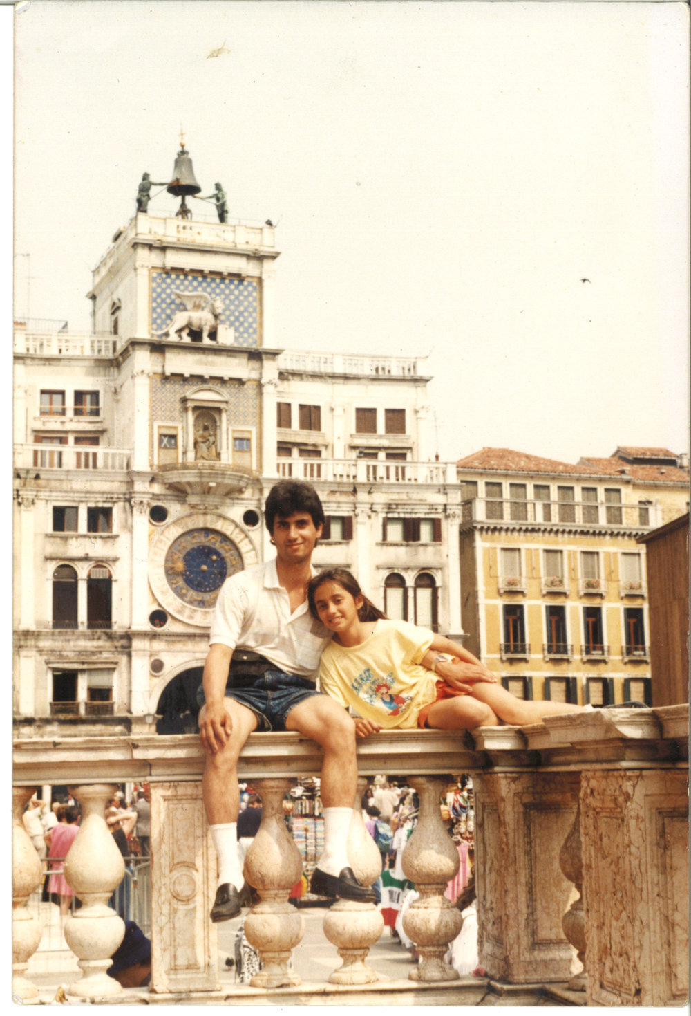 Venice with dad, sleeping on benches - Summer, 1990