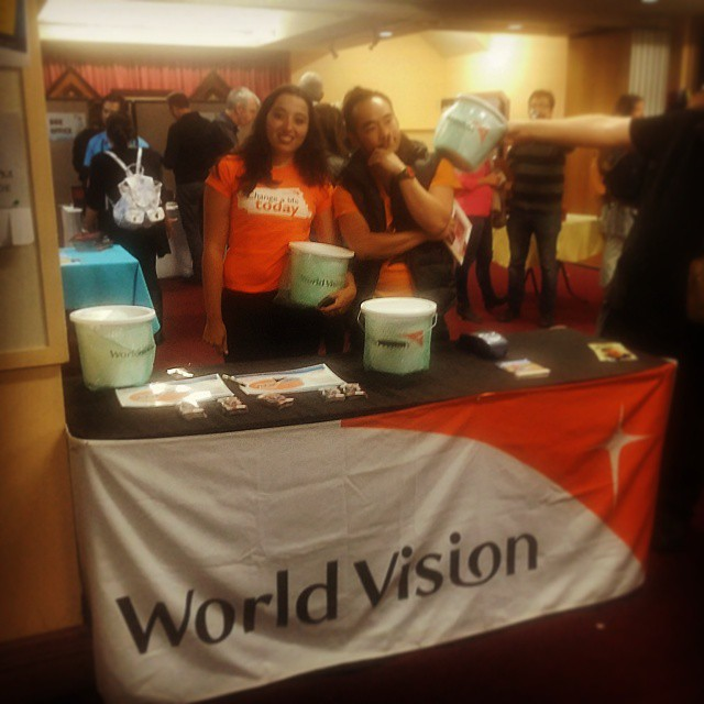 World Vision on a mission! #SqueakyCleanComedy #OpeningNight #Intermission #Support #WorldVision