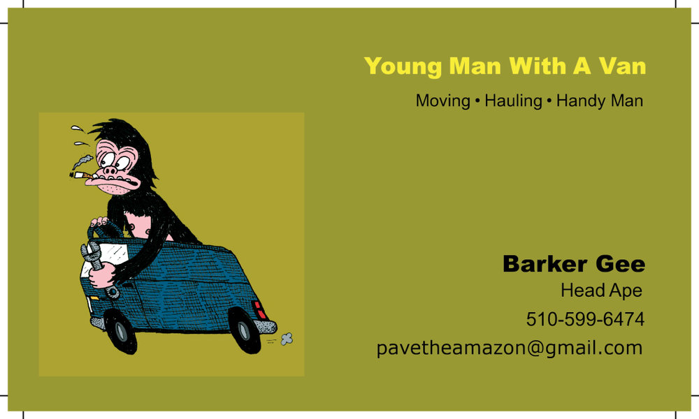 Barker Gee Business Card, 2012