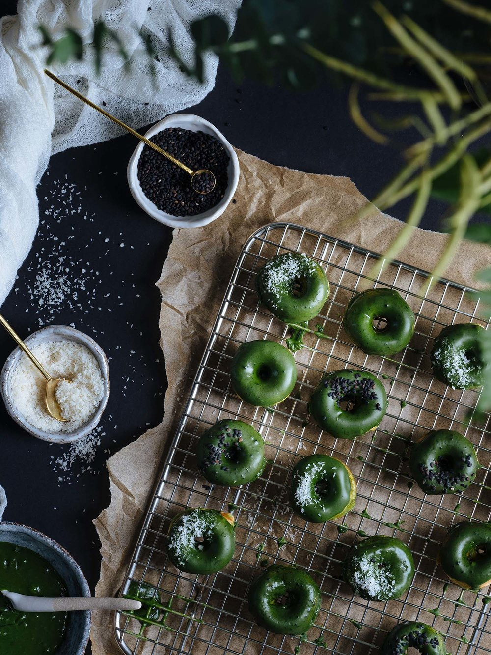 MATCHA hONUTS - 2 words. Matcha + honuts (healthier donuts) = bliss. Enough said
