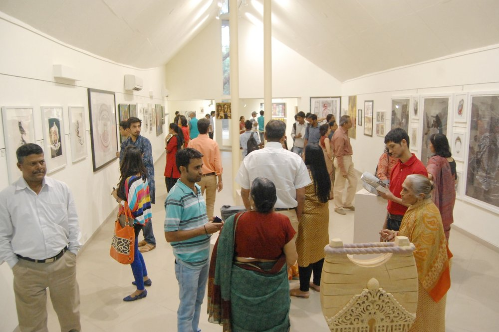 Opened in August 2011, the Gallery is designed by renowned architect BV Doshi and offers 144 sq.m of space. The Gallery is professionally equipped for exhibitions of visual arts.  Find out more.