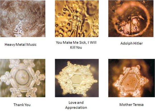 Japanese Water Study by Dr Masaru Emoto