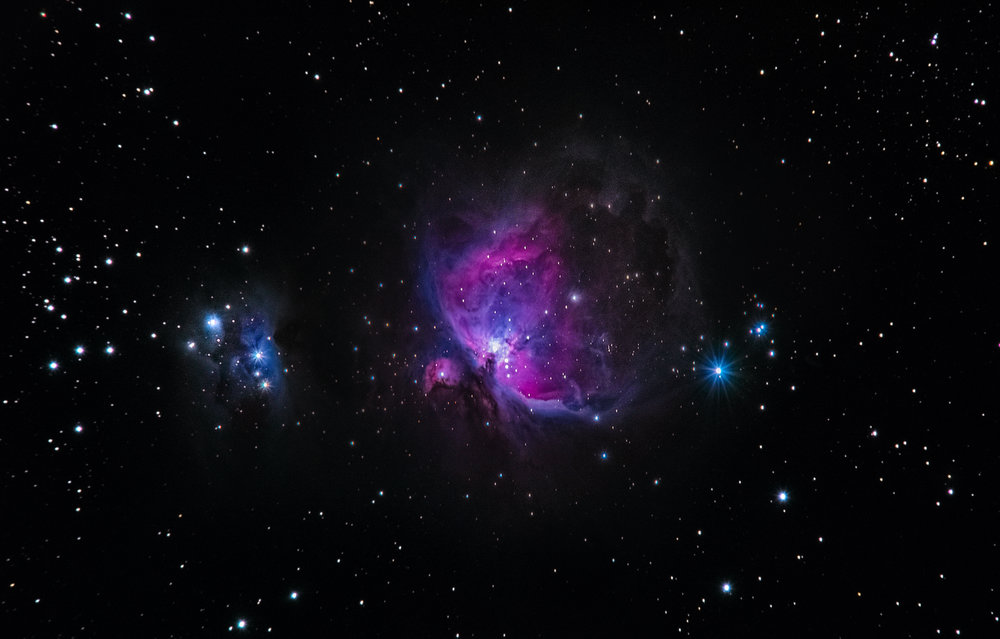 M42 Orion Nebula - a bright nebula rich in Hα emission. Removing the IR filter allows the Hα light to reach the sensor more effectively. Not taken with NANO1. We're still waiting for its rise as well as clear skies in Singapore.