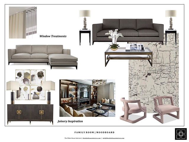 The moodboard for the family room in one of my current projects in Essex. Comfortable Luxe 😍 . . . . #luxurylivingroom #luxuryliving #familyroom #essex #thewhitehouseinteriors #luxurydesigns #interiordecor