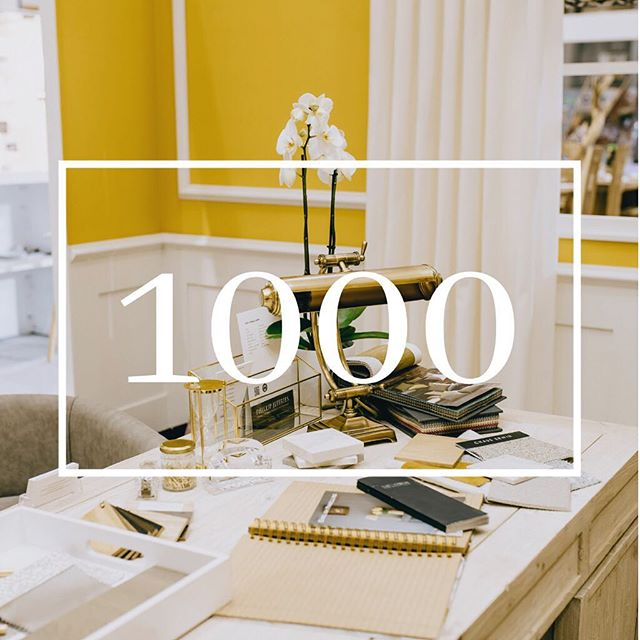 Last week I hit 1000 followers and I want to say a huge thank you to all for your continued support. The White House Interiors is my baby and I'm so very proud of everything I have accomplished. I promise to remain authentic in my offering and can't wait to share more projects, musings and real life stuff this year 🙌🏾 . . . . #thewhitehouseinteriors #whitehouseonwednesday #interiordesignstudio #highendinteriordesign #highendinteriors #highendinteriordesigners