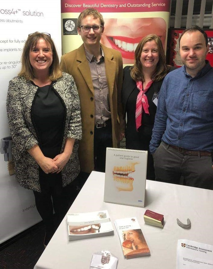 Rachel Jones from Neoss, David Baybutt from Staina House Dental, Amy and Stuart Barnes from The Lytham Dental Clinic