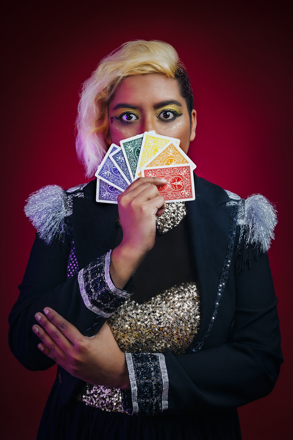 Poker Face [Official Queer Lady Magician Photoshoot 2018] by Alexis D Lea