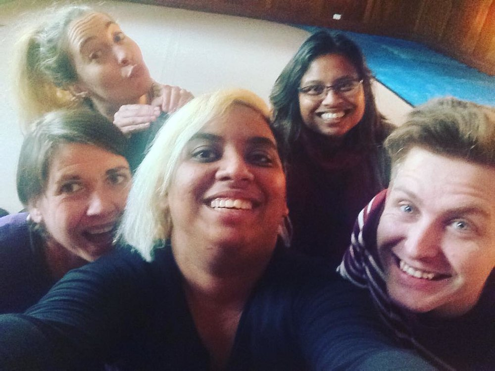 Sonia, Chelsea, Sharmini, Bradley, Tiara at Women's Circus