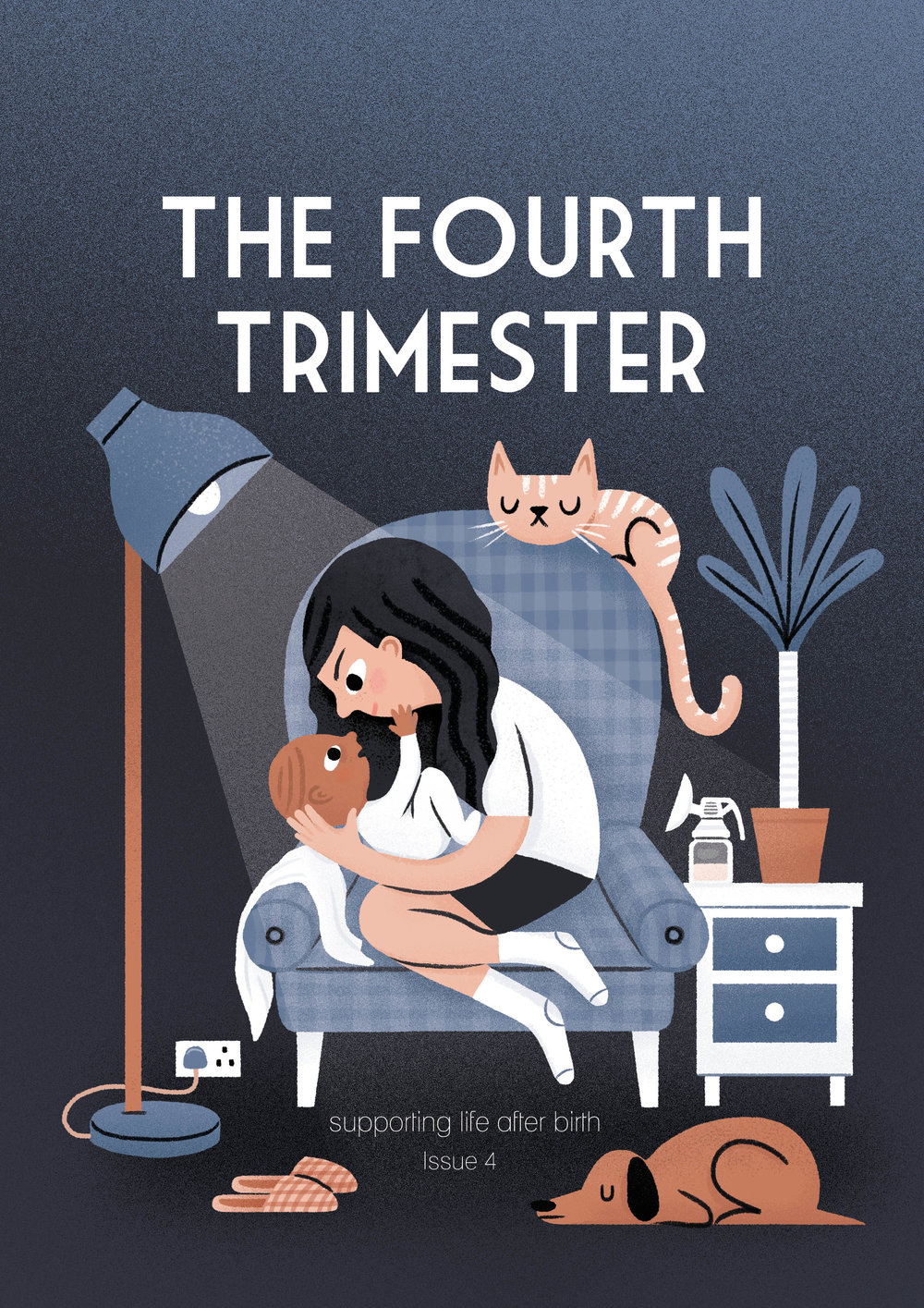 A cover for 'Fourth Trimester' magazine (this illustration ended being used to accompany an article on the inside of the magazine)