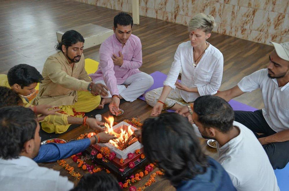 Yagya (Feuer Zeremonie)