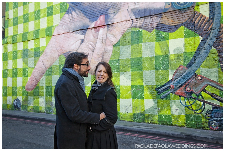 Shoreditch Street Art Engagement Shoot