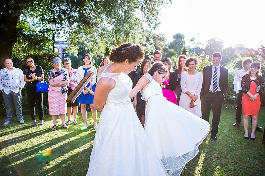 Wedding of a samesex couple