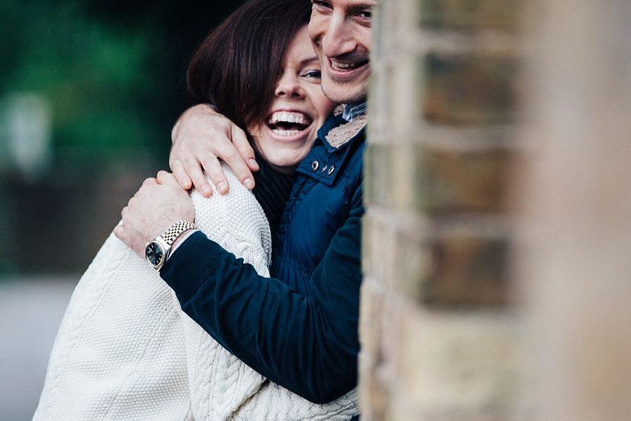 Engagement shoot near the river in London