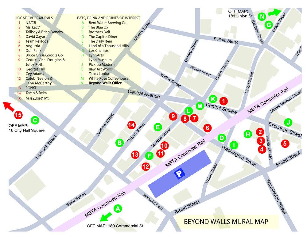 Beyond Walls 2017 Festival Map