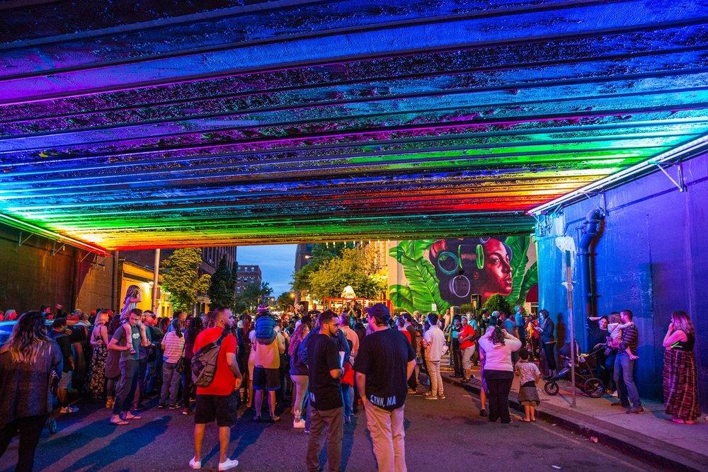 Beyond Walls Underpass Lighting creative collective