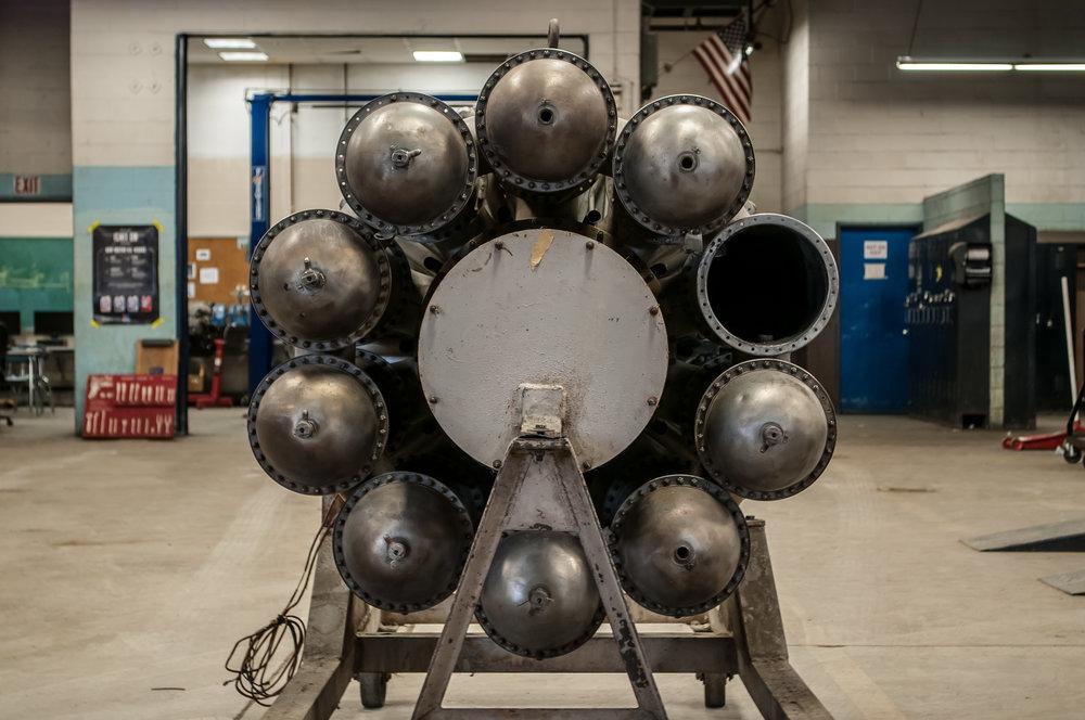 jet engine beyond walls