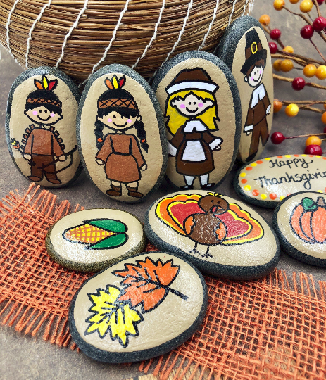 Thanksgiving Story Stones