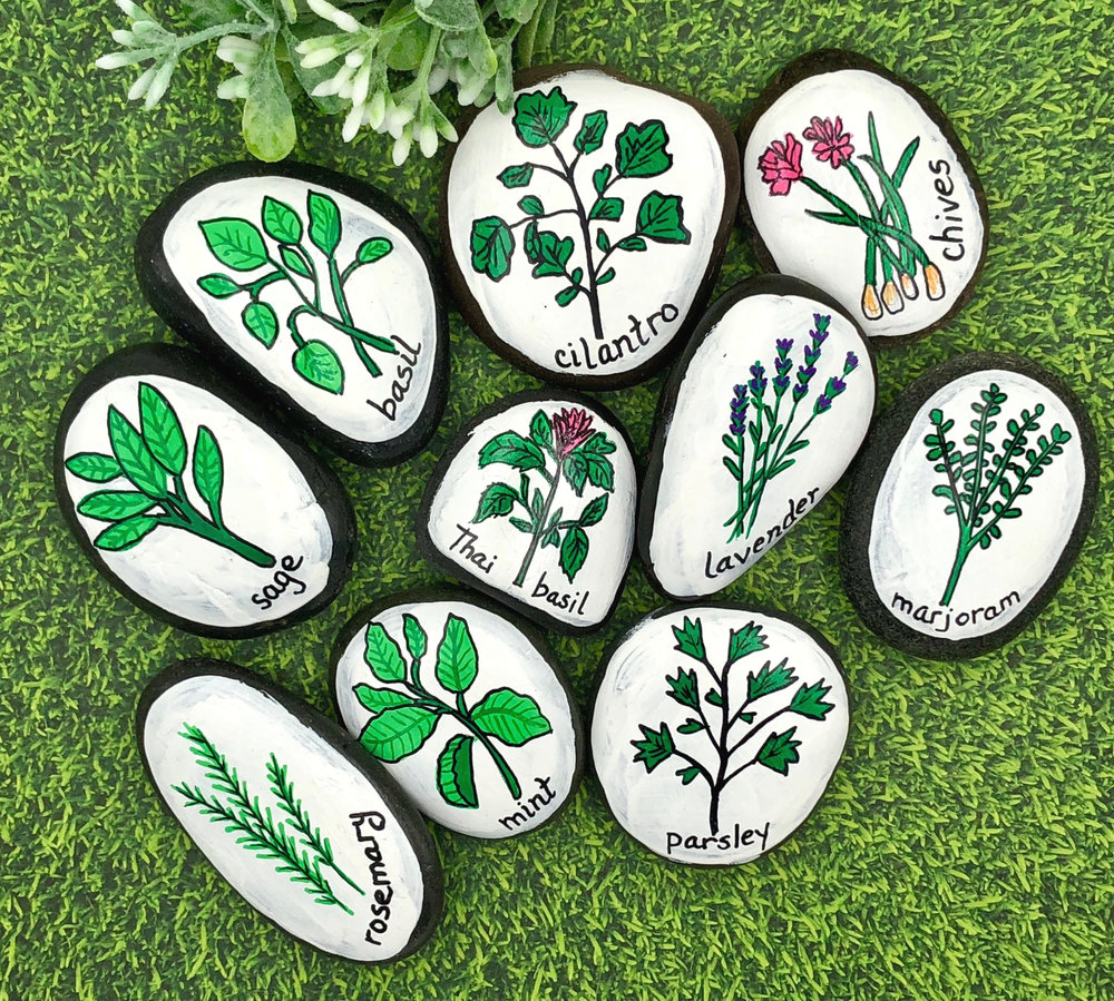 Herb Garden Markers Story Stones