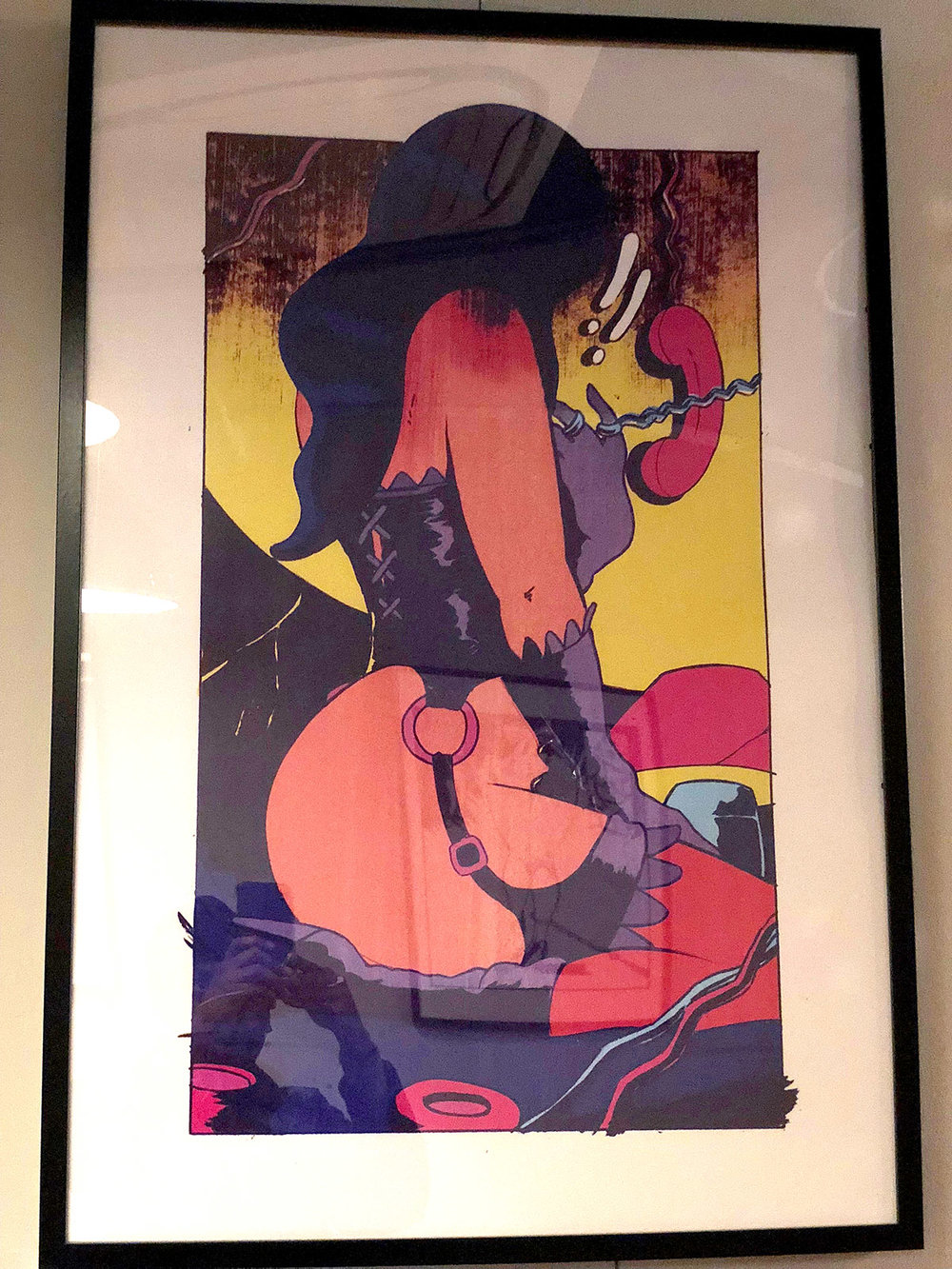 Framed Print 'Suspended Call III'- Selected Print Works Exhibition (London NW10)