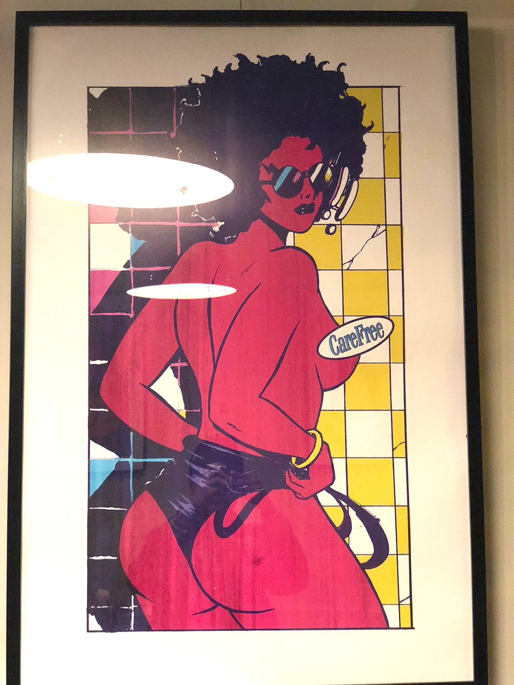Framed 'Shower Scene' - Selected Print Works Exhibition (London NW10)