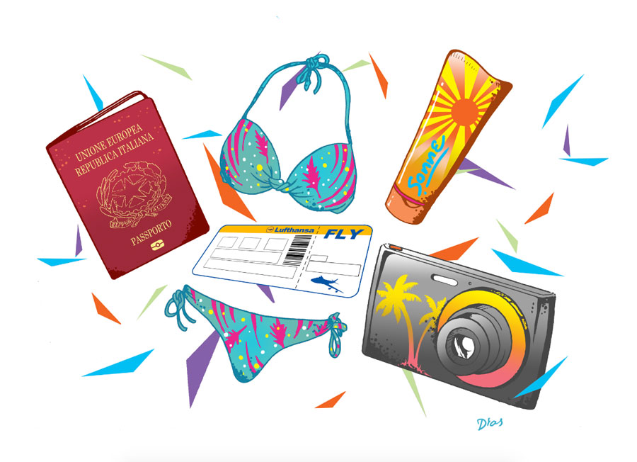 Illustrations for Lufthansa's in flight magazine